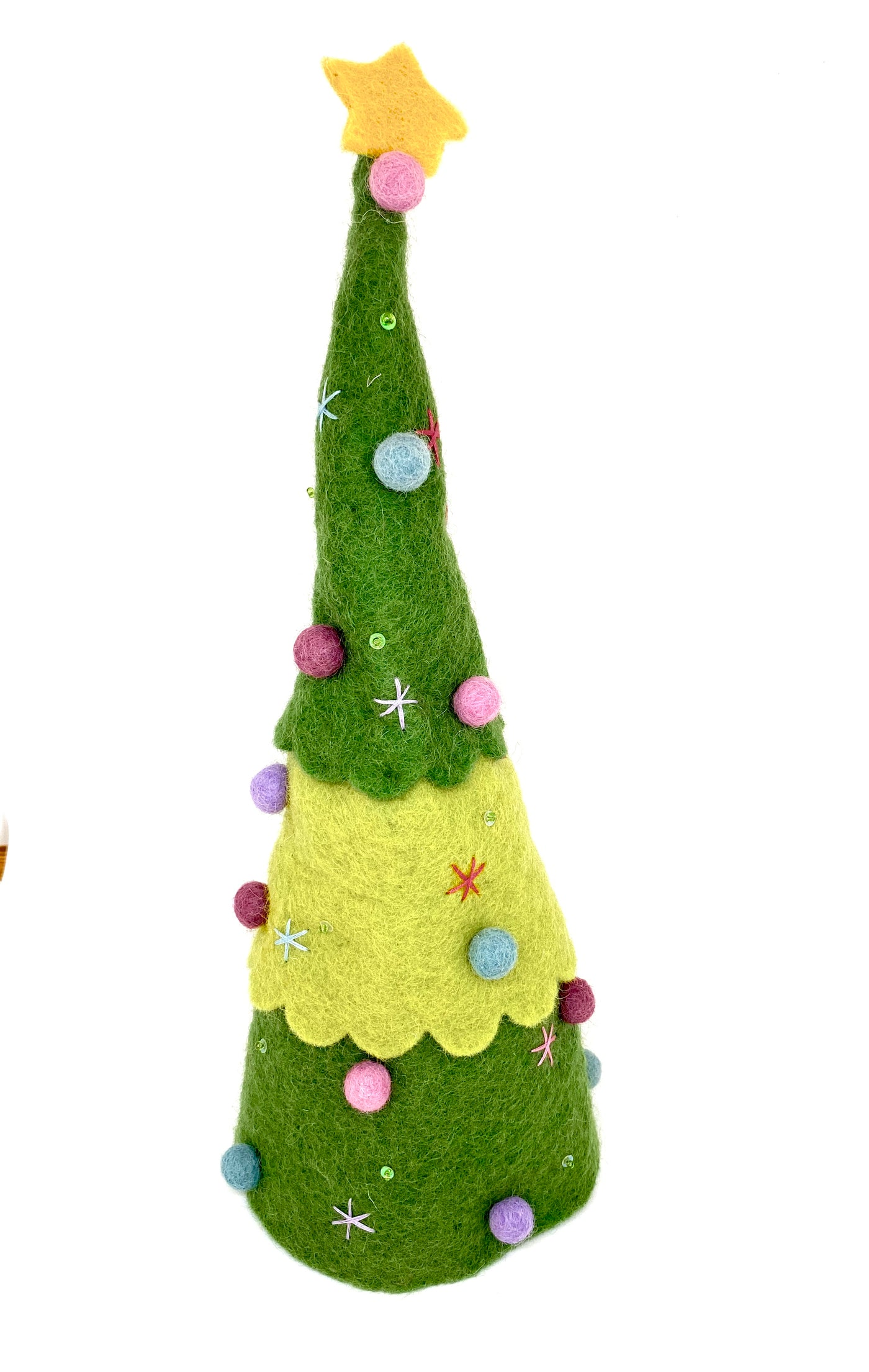 Pashom felt Xmas tree handmade and fair trade