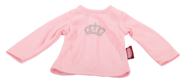 Gotz pink T shirt with crown 42cm