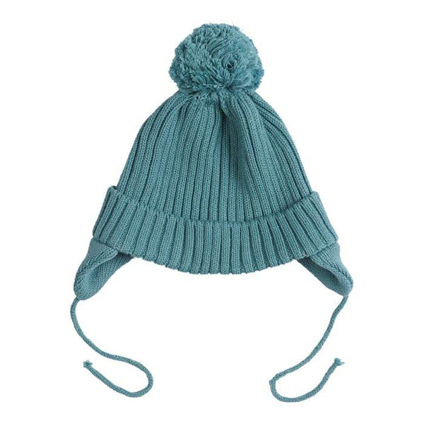 Miann & Co moss green rib beanie