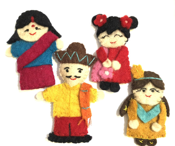 Pashom Felt people of the world finger puppet