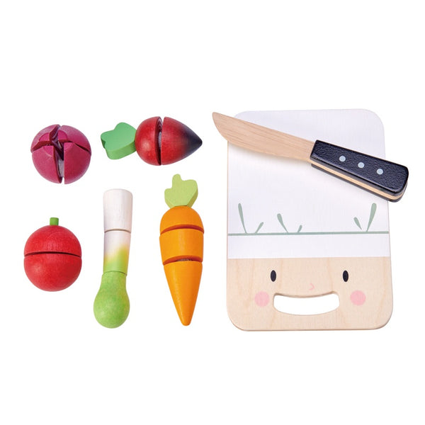Tender Leaf toys Mini chef chopping board with veg