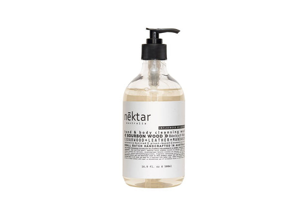 Nēktar Bourbon Wood hand & body cleansing wash