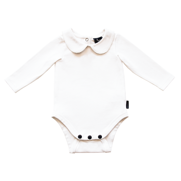 Pappe Bowhill luxe long sleeved organic bodysuit