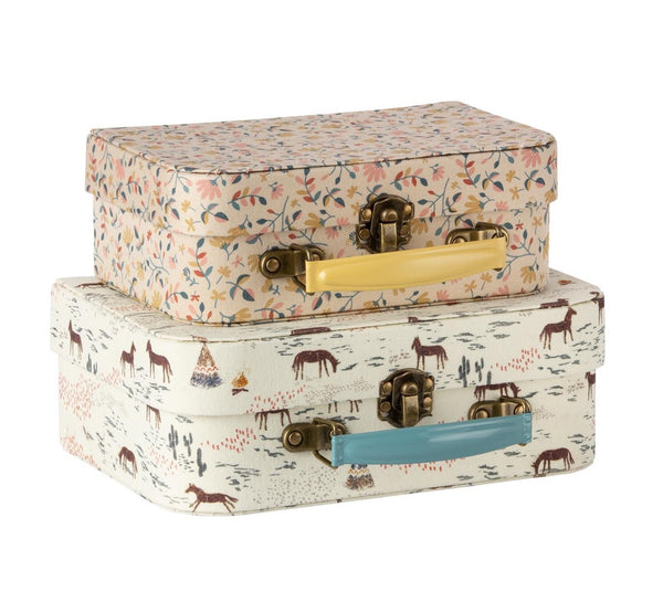 Maileg fabric suitcase set 2pk