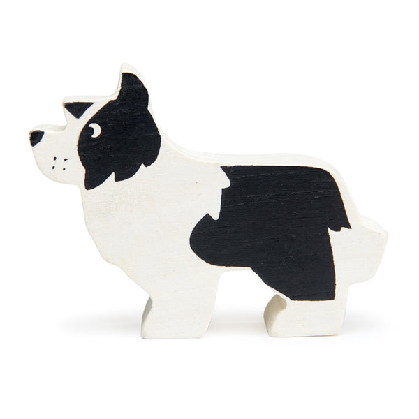 Tender leaf English Shepherd dog wooden