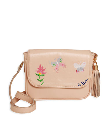 Mini Bag Exclusiva Borboletas Nude