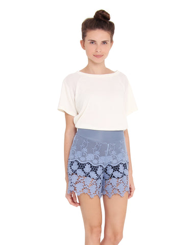 Short Renda Azul