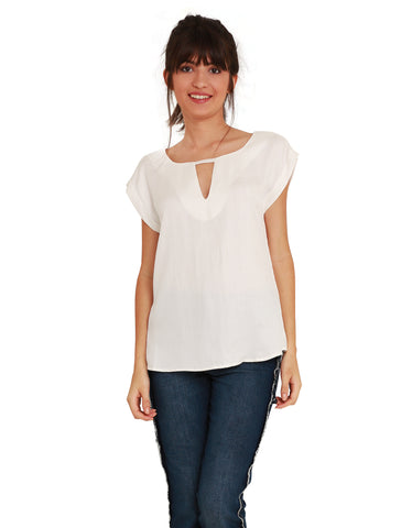 Blusa Decote Off-White
