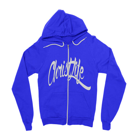 ChristLife Logo Blue Full-Zip Hooded Sweatshirt