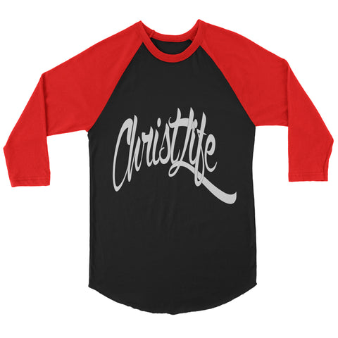 ChristLife Logo Black and Red Baseball Tee
