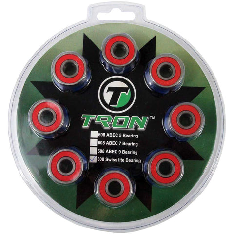 Tron 16-Pack Inline Hockey Swiss Lite Bearings