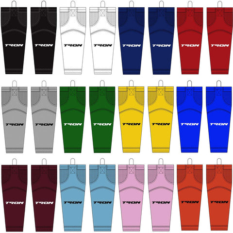 SK100 Dry Fit Solid Color Hockey Socks