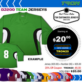 Team Hockey Jersey Tron DJ200 - Black