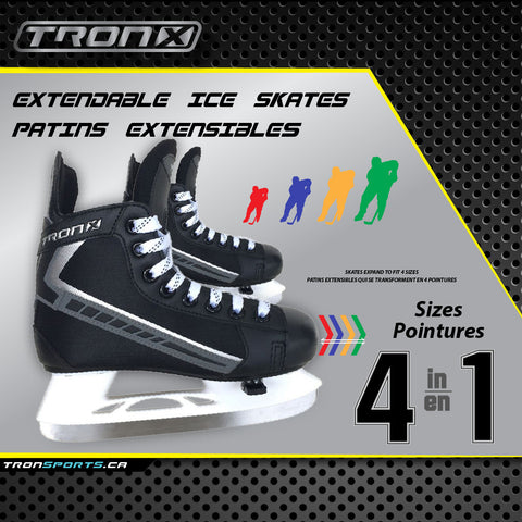 Tron-X Youth/Junior Adjustable Ice Hockey Skates