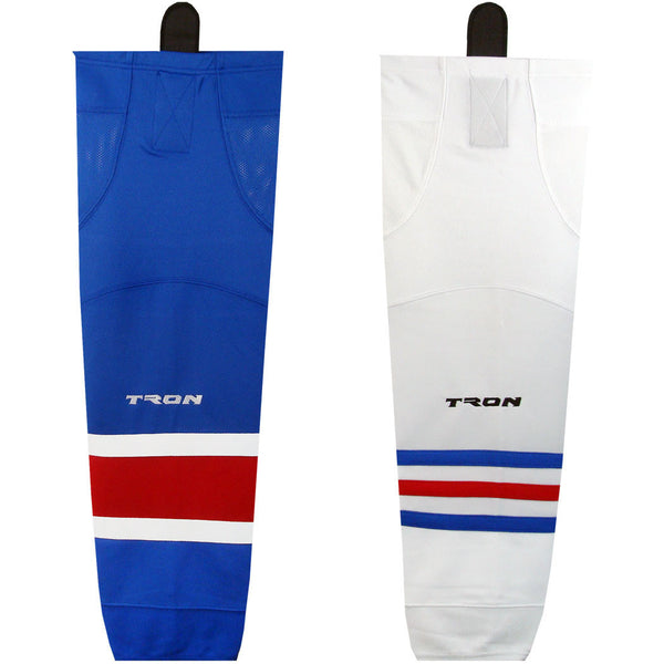 TRON SK300 Team Dry Fit Hockey Socks - New York Rangers