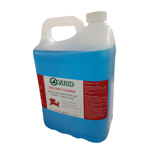 Dog Run Cleaner and Odour Remover / Disinfectant 5 Litre NON FRAGRANCED