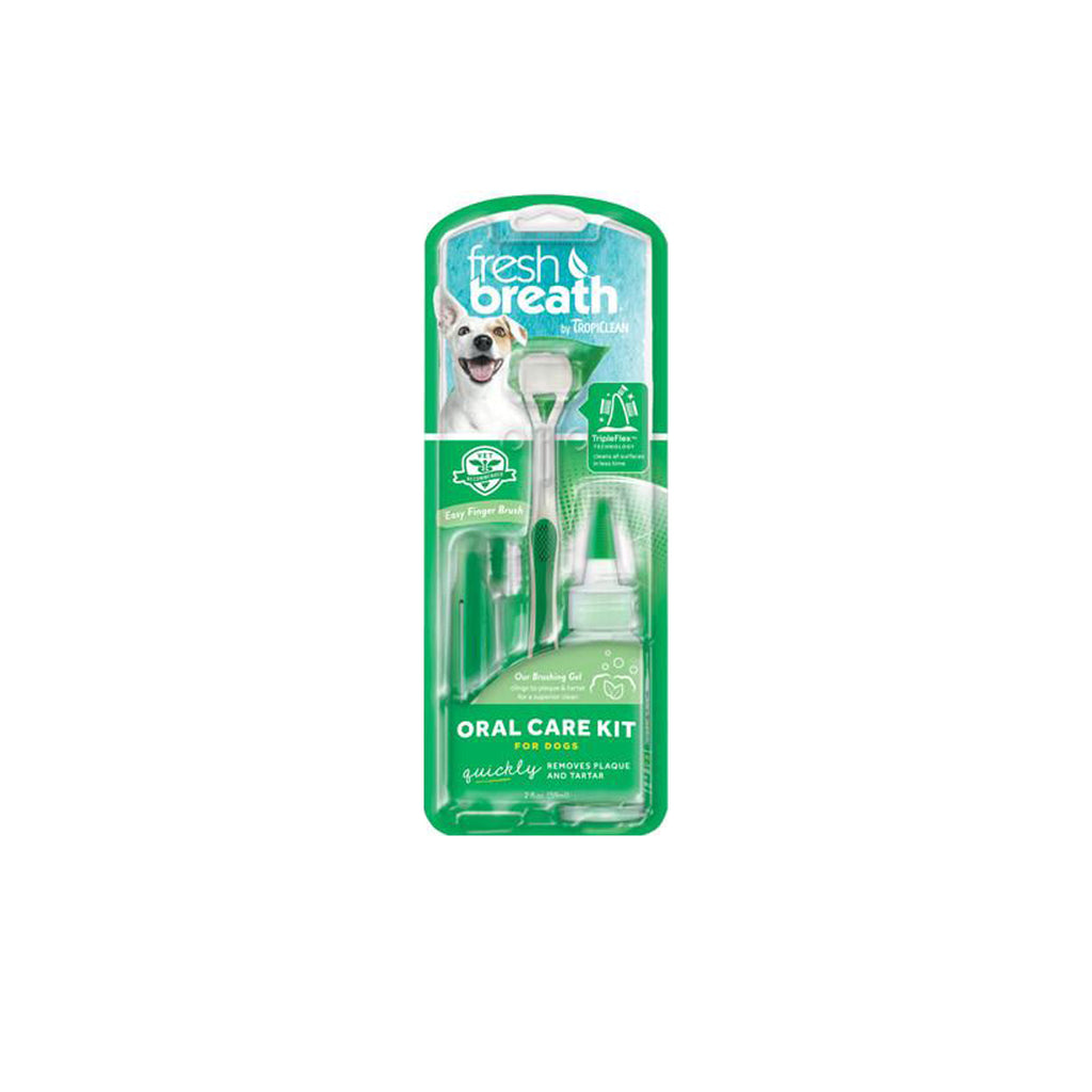 A1 Tropiclean Fresh Breath Oral Care Kit For Dogs