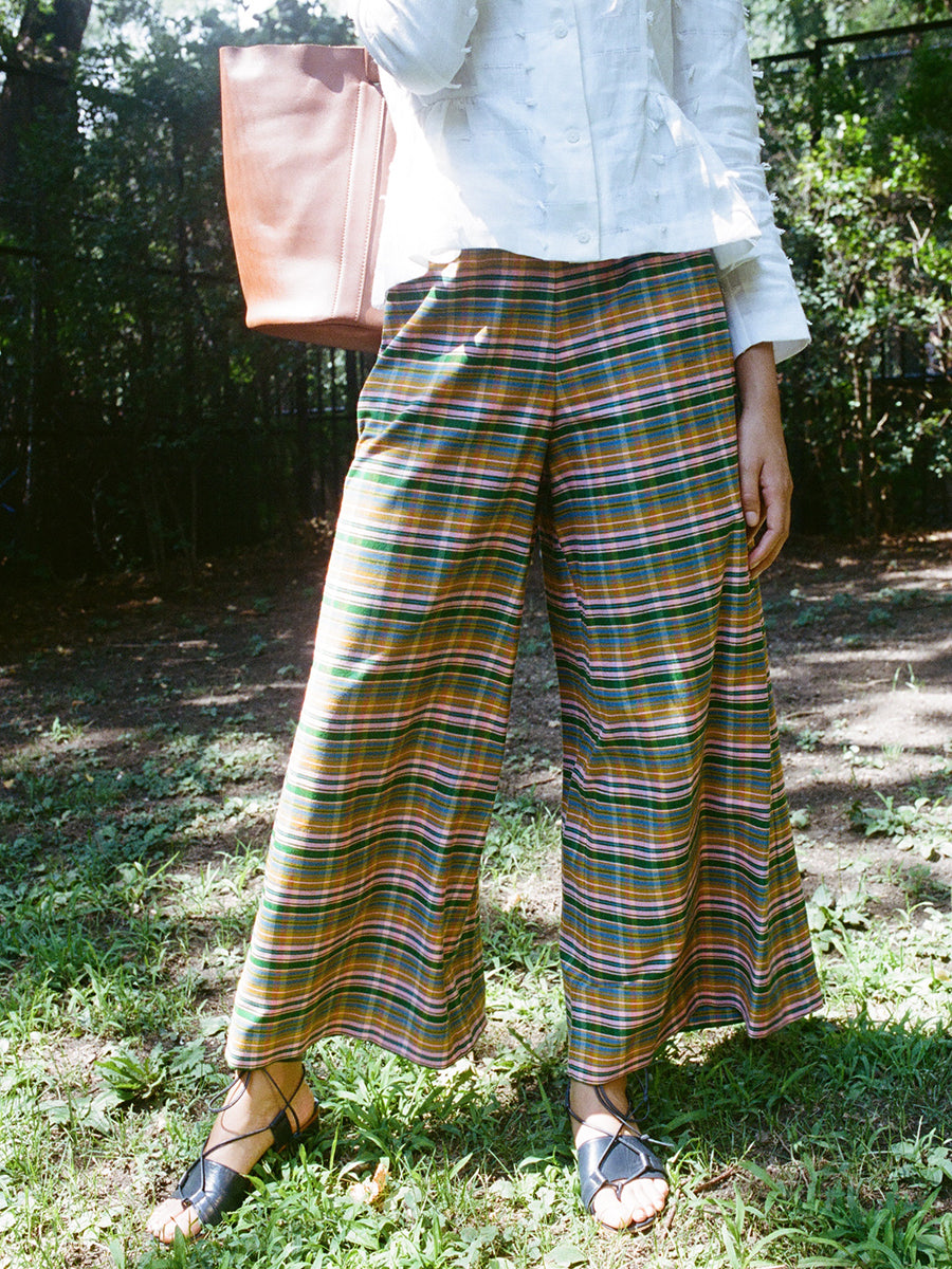 CLEM WIDE LEG TROUSER / CANDY PLAID