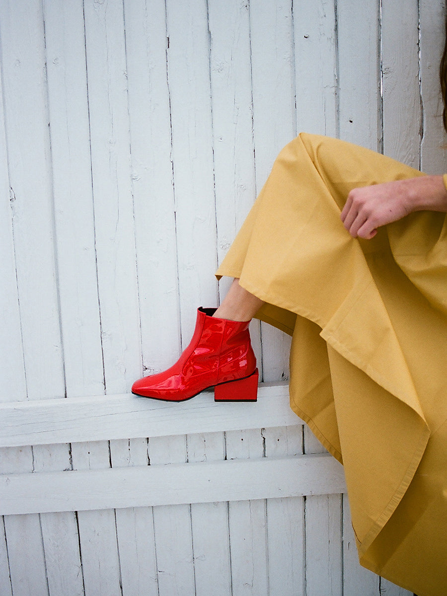 REGINA BOOT / RED PATENT
