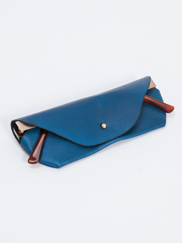 GLASSES CASE / NAVY LEATHER
