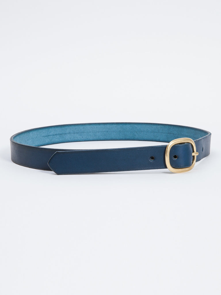 OVAL 2 BELT / NAVY LEATHER