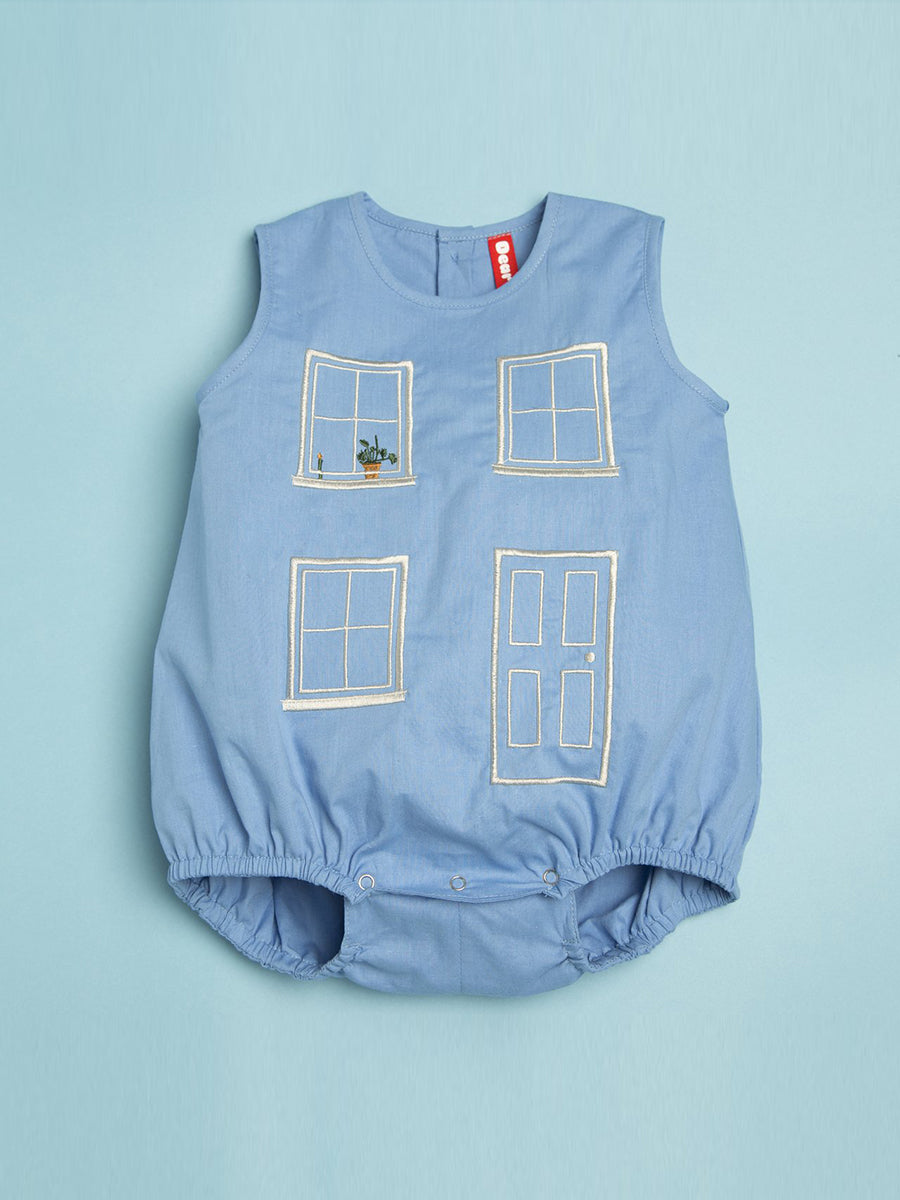BABY HOUSE BUBBLE ROMPER