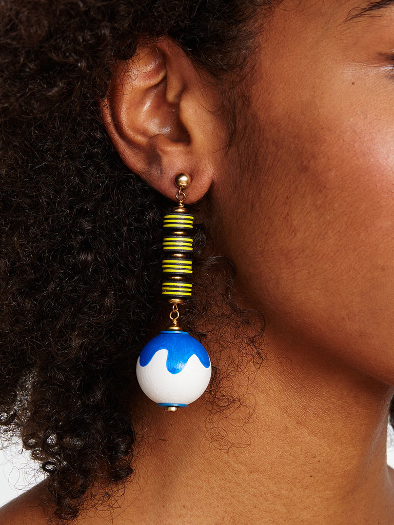 BLUE SNAKE EARRINGS