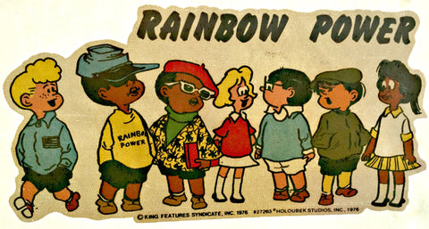 Rare 1976 Rainbow Power Vintage 70s t-shirt iron-on transfer Cartoons Original Authentic by Holoubeck