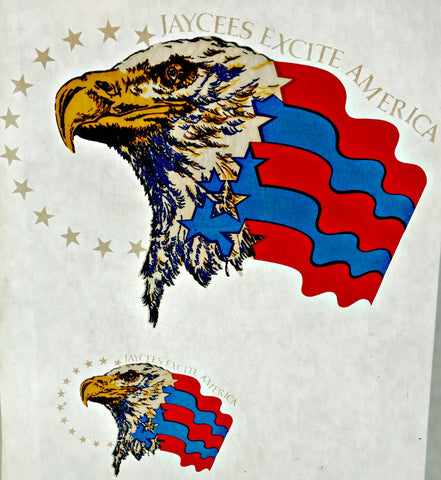jaycees, excite, america, eagle, logo,