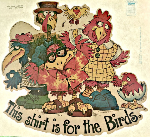 for the birds, vintage t-shirt iron-on