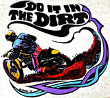 vintage, 70s, motorcycle, t shirt, iron on, retro, graphic, tee, transfer, moto x, dirt bike, roach, do it in the dirt