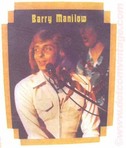 barry manilow, 70s t-shirt iron-on