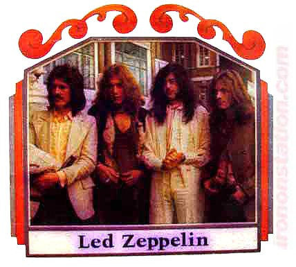 LED ZEPPELIN group shot Vintage Iron On tee shirt transfer Original Authentic