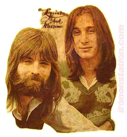 LOGGINS and MESSINA Vintage Iron On band tee shirt transfer 70s retro nos