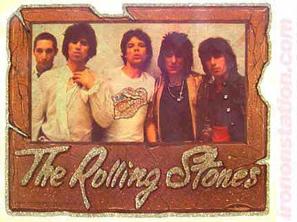THE ROLLING STONES 70s Vintage Iron On Band tee shirt transfer rock concert old stock