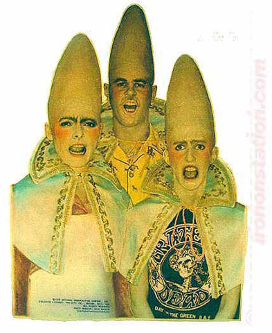 CONEHEADS Dan Akroyd SNL Vintage Iron On tee shirt transfer Original Authentic