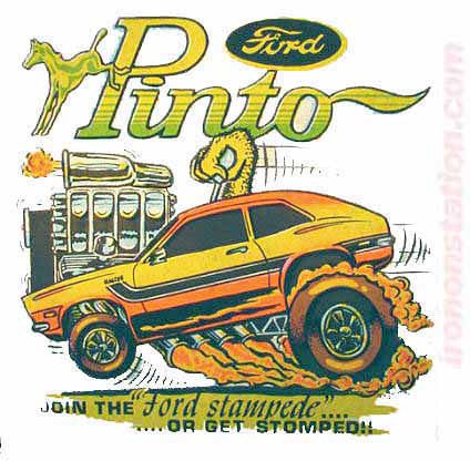 FORD PINTO Hot Rod race cars trucks Vintage tee shirt Iron On Authentic 70s NOS new old by Roach 1970