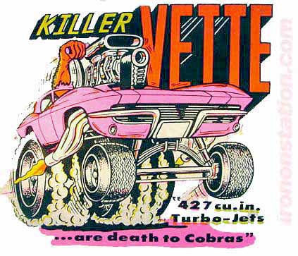 KILLER VETTE 70s drag Vintage tee shirt Iron On Authentic 70s NOS by Roach