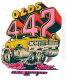 OLDS 442 Roach 1969 Vintage t-shirt iron-on Authentic 70s NOS new old Hot Rod muscle race cars