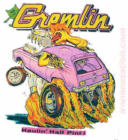 "GREMLIN ""Haulin' Half Pint"" Vintage Iron On tee shirt transfer Original Authentic retro 70s by Roach"
