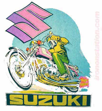 SUZUKI Moto X Hot Rod Vintage tee shirt Iron On transfer Authentic 70s NOS new old