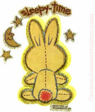 "Cute Teddy Rabbit ""Sleepy Time"" 70s Vintage Iron On tee shirt transfer Original Authentic"