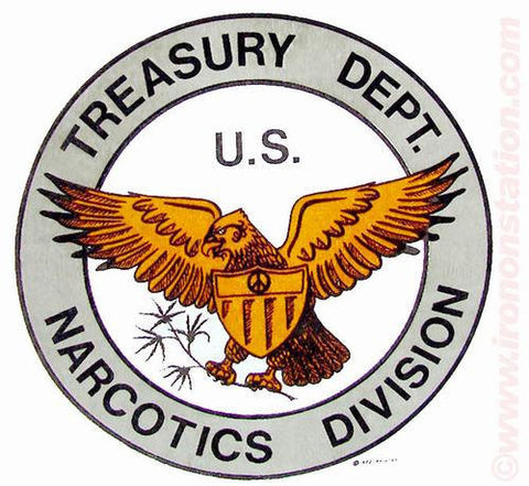420 Treasury Department US NARCOTICS DIVISION drugs 70s Vintage Iron On tee shirt transfer Original Authentic
