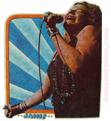 janis joplin, vintage, 70s, t-shirt, iron-on