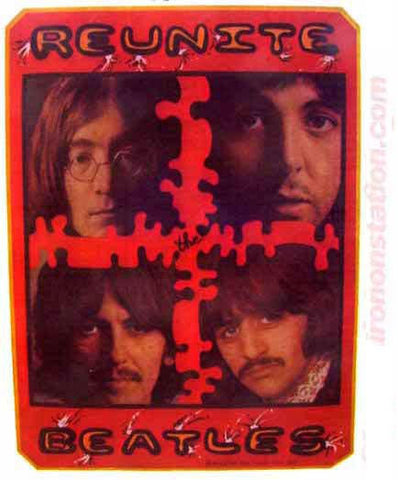 the beatles, reunite, rock, album, t-shirt iron-on