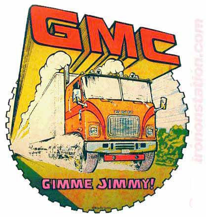 "GMC ""Gimme Jimmy"" Hot Rod race cars trucks Vintage tee shirt Iron On Authentic 70s NOS by ROACH"