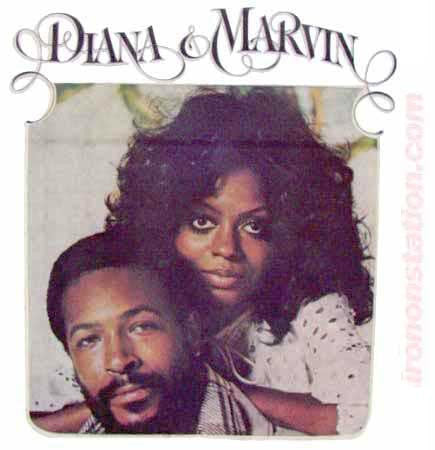 Diana and Marvin Gaye Vintage 70s t-shirt iron-on band R&B diy american fashion