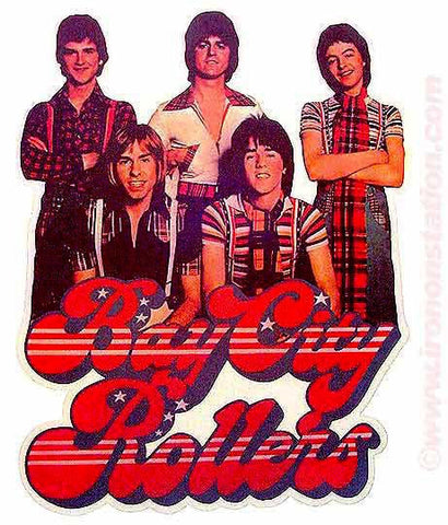 bay city rollers, vintage 70s t-shirt iron-on