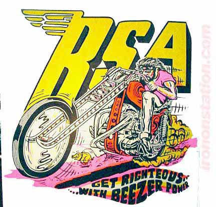 BSA BEEZER Vintage 60s t-shirt iron-on Moto X Hot Rod Authentic 70s NOS by Roach 1969