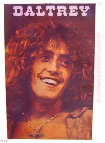 ROGER DALTREY Vintage band tee shirt Iron On Authentic 70s rock concert
